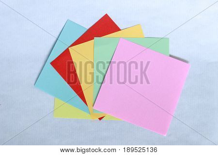 Small paper think self sticky self and all colors to write messages