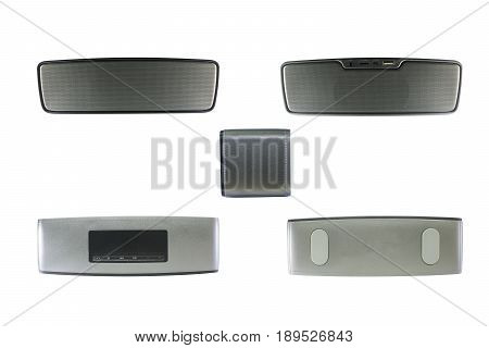 Wireless speaker isolated on white background with clipping path.