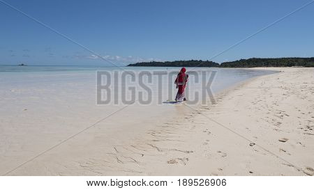 Beach in Nosy Iranja, the Island Madagascar