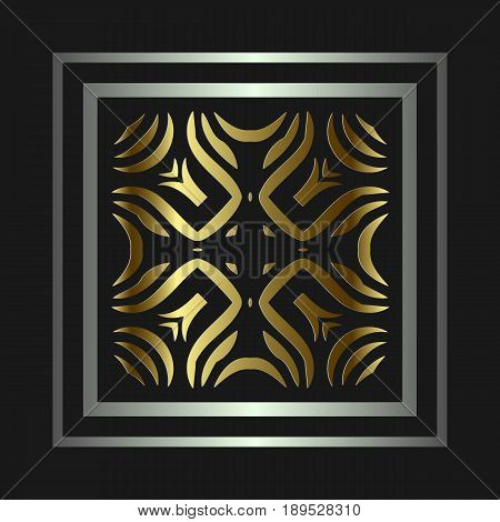 The geometric texture. Abstract gold geometric ornaments Baroque, Renaissance Vector illustration.