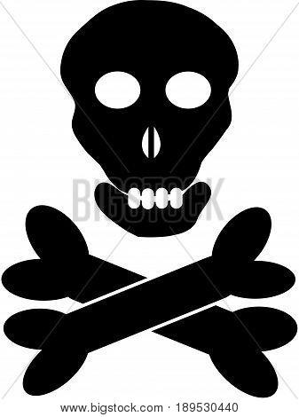 Symbol for poison isolated on white background. Vector illustration.