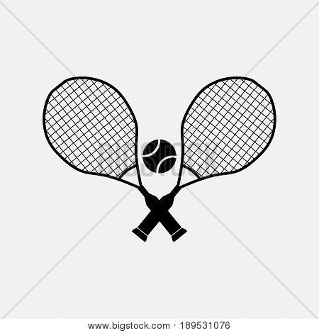 icon tennis entertainment sports fully editable vector image
