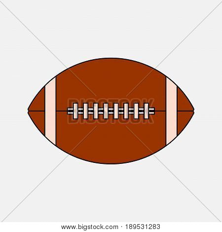 Icon ball game of American football the game of rugby logo an American sport sport for real Mister fully editable vector image