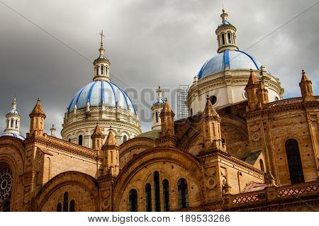 The Cathedral of the Immaculate Conception in Cuenca in Ecuador