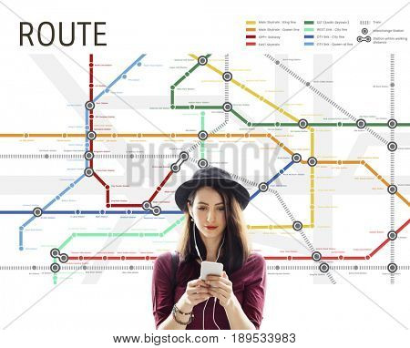 Route Map Destination Navigation Guidance Plan