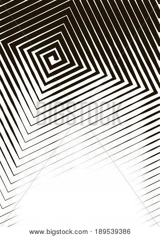 Abstract Background A4 Format. Halftone Pattern Spiral. Square, Spiral, Line