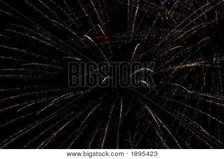 Fireworks On Dark Sky Background