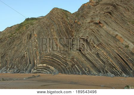 The wonderful and peculiar beach of Barrika