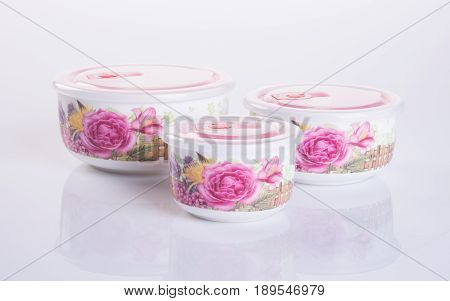 Food Container Or Ceramic Food Container On Background.