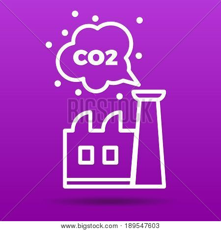 co2 emissions icon vector illustration  factory  and carbon dioxide emissions