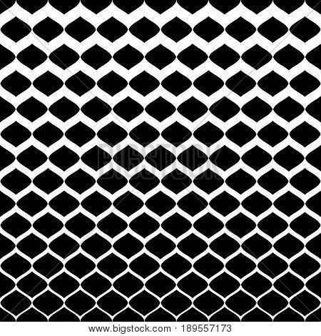 Halftone seamless pattern, vector monochrome texture, gradient transition from white to black background. Illustration of mesh with gradually thickness. Abstract repeat background. Design for prints, fabric pattern, abstract digital background