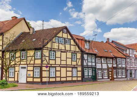 Colorful Half-timbered Houses In The Historic Center Of Hameln