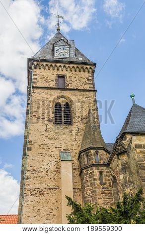 Tower Of The Münster St. Bonifatius Church In Hameln