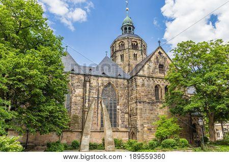 Münster St. Bonifatius Church In The Historic Center Of Hameln