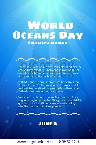 World Oceans Day, June 8
