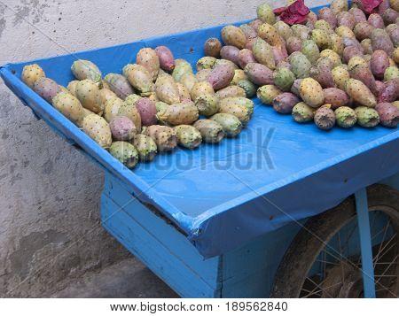 Cactus fruit at Medina District old Bab el Bahr town Tunis