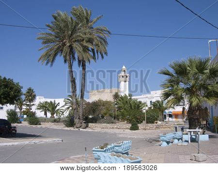 Street view of an Ancient village Tunis