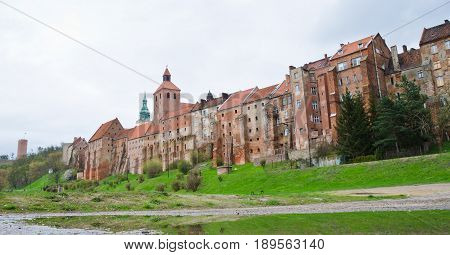 GRUDZIADZ, POLAND. 7th APRIL 2017. The ancient granaries in Grudziądz are one of the attractions drawing an increasing number of tourists to this often-overlooked Polish town.