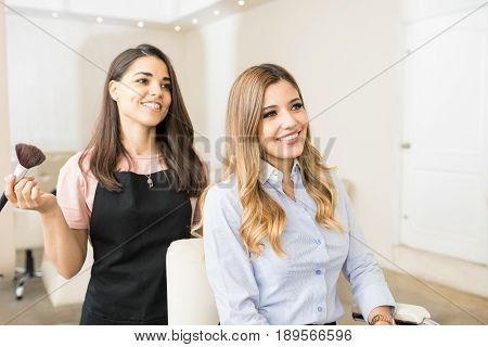 Satisfied Customer In A Beauty Salon