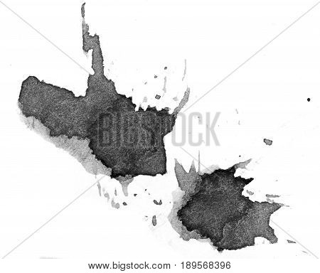 black blot on a white background . A photo