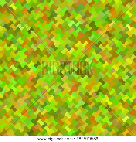 Colorful curved shape mosaic pattern background design - vector illustration