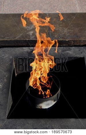 The eternal flame in the center of St. Petersburg