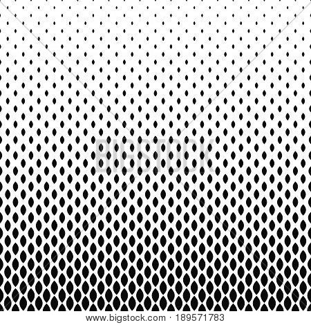 Abstract monochrome curved shape pattern design background