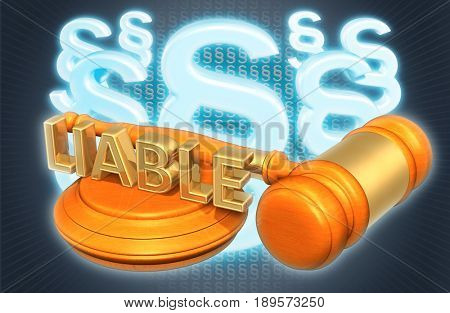 Liable Law Concept 3D Illustration