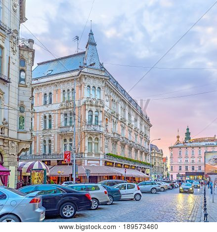 Shevchenko Avenue In Lvov