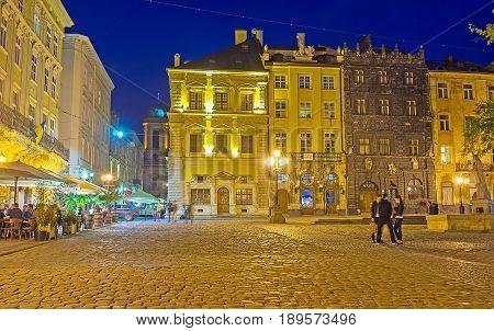 Evening Lights Of Lvov