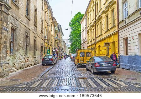 The Old Street Of Lvov