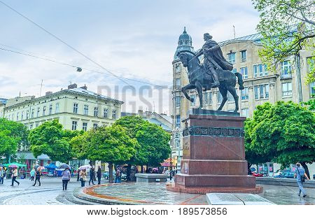 Halytska Square In Lvov
