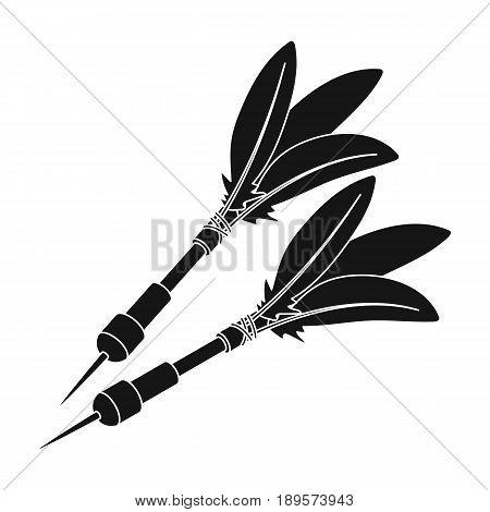 Darts for the wind gun.African safari single icon in black style vector symbol stock illustration .