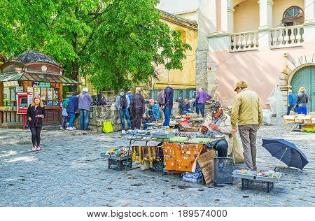 The Antique Market Of Lvov