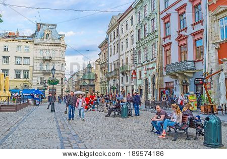The Walk Along Lvov Market Square