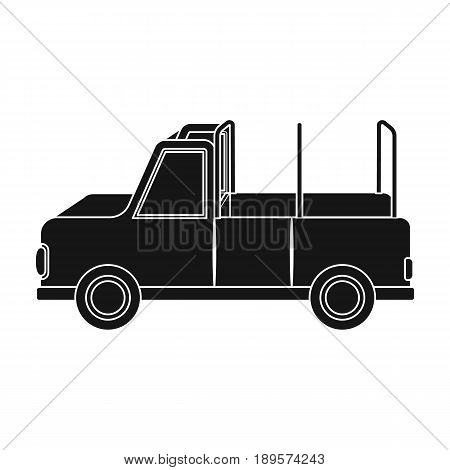 Machine for safari.African safari single icon in black style vector symbol stock illustration .