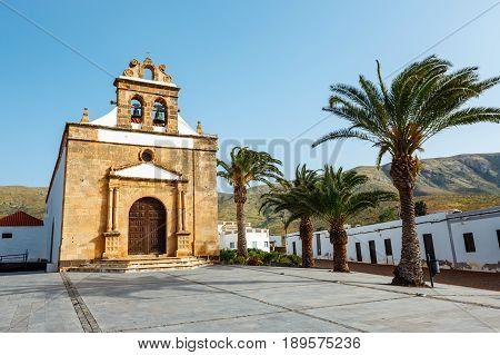 Church Of Nuestra Senora De La Pena Near Betancuria, Ermita De La Virgen De La Pena, Fuerteventura,