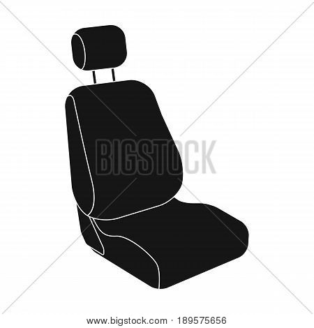 Car seat.Car single icon in black style vector symbol stock illustration .