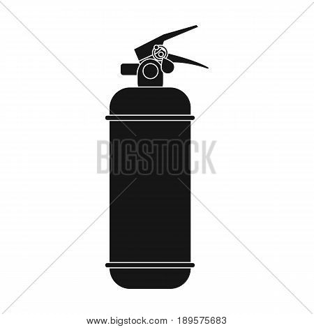 Fire extinguisher powder.Car single icon in black style vector symbol stock illustration .