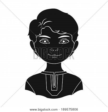 Russian.Human race single icon in black style vector symbol stock illustration .