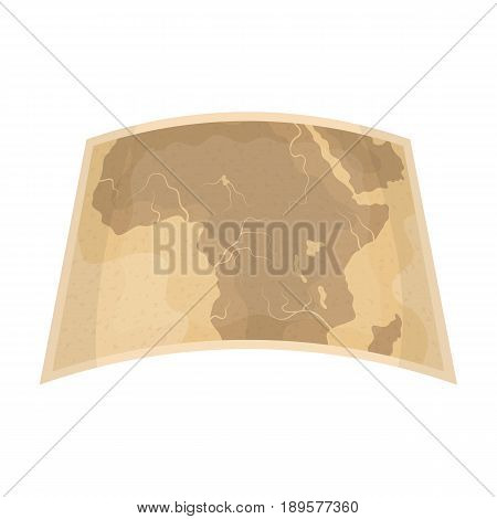 Map of mainland Africa.African safari single icon in cartoon style vector symbol stock illustration .