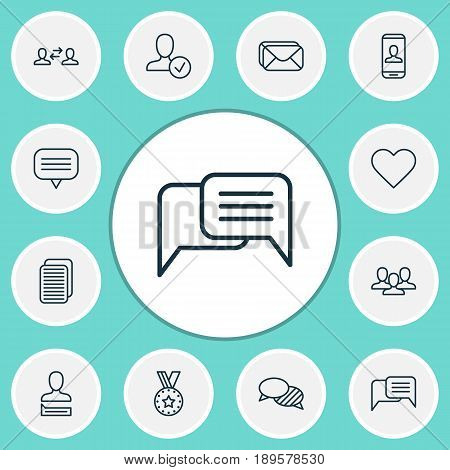 Network Icons Set. Collection Of Speaking, Chatting Person, Privacy Information And Other Elements. Also Includes Symbols Such As Social, New, Mailbox.