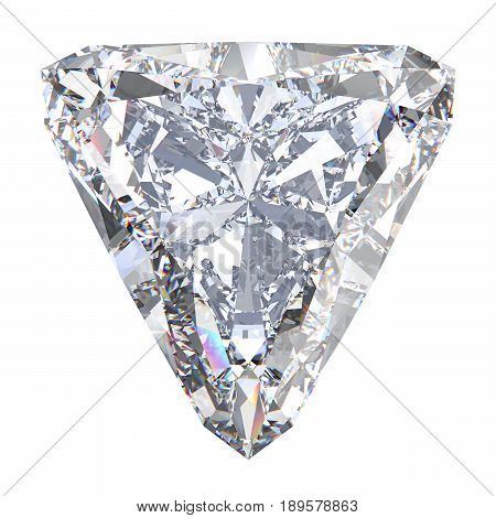 3D illustration trillion straight diamond stone on a white background