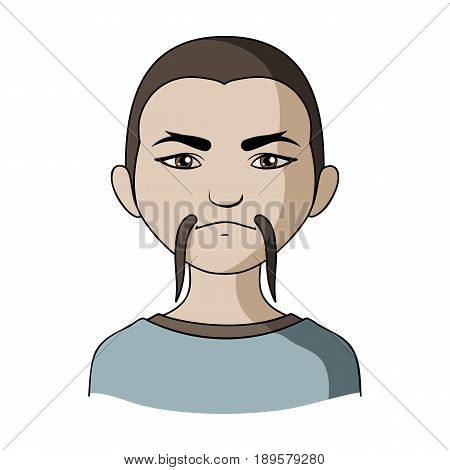 Chinese.Human race single icon in cartoon style vector symbol stock illustration .