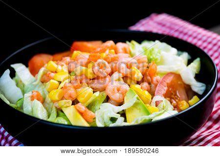 Fried shrimp delicious fried shrimp with lettuce