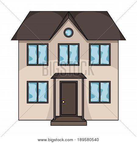 Private cottage.Realtor single icon in cartoon style vector symbol stock illustration .
