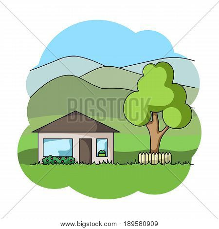 Vacation home.Realtor single icon in cartoon style vector symbol stock illustration .