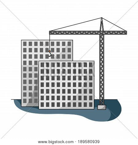 Construction of houses, real estate.Realtor single icon in cartoon style vector symbol stock illustration .