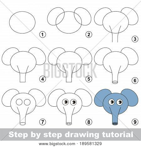 Drawing Tutorial For Preschool Children.
