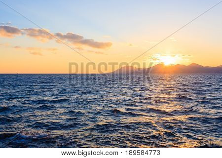 Sunset From The Port Of Cannes, France